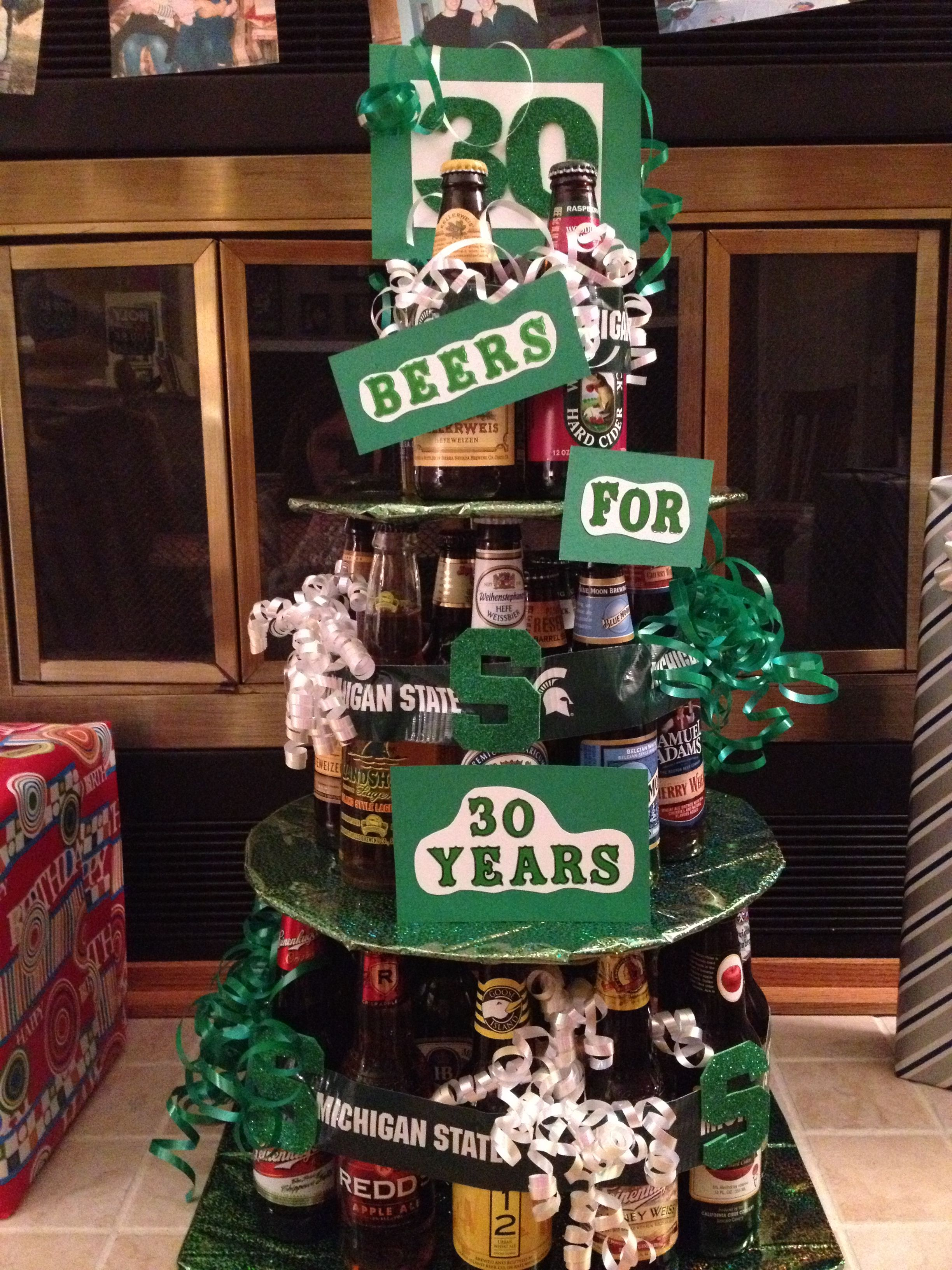30 th bday beer cakethis would b awesome for chriss 30th