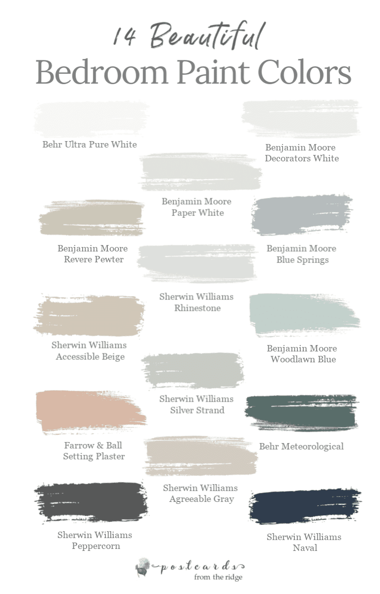 14 Popular Bedroom Paint Colors Shown in Real Rooms