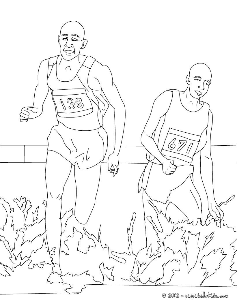 Steeplechase Athletics Coloring Page More Sports Coloring Pages