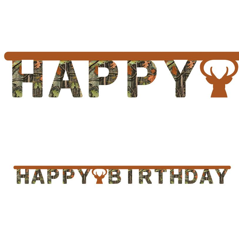 Hunting Camo Birthday Banner With Images Camo Birthday