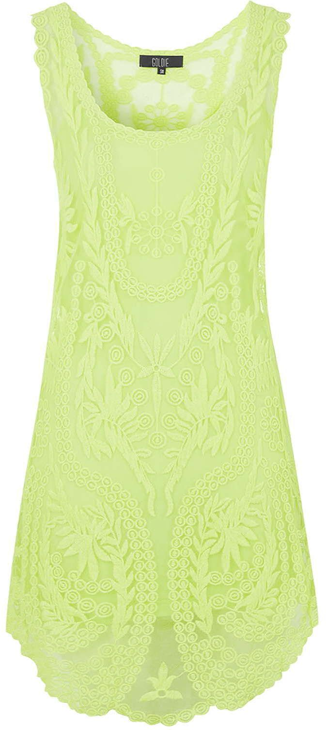 Womens lime dress from Topshop - £35 at ClothingByColour.com