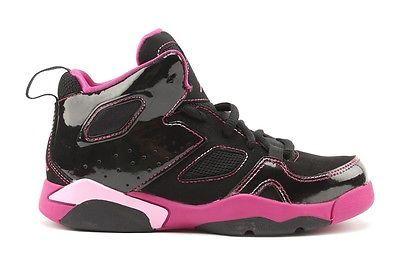 9767c54b0191 Nike Jordan Flight Club 91 555332 018 Youth PS Girls Black Pink Basketball  Shoe