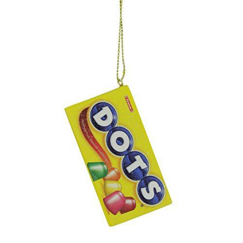 Felices Pascuas Collection 2.75 inch Candy Lane Tootsie Roll DOTS Orignal Gumdrop Candies Christmas Ornament