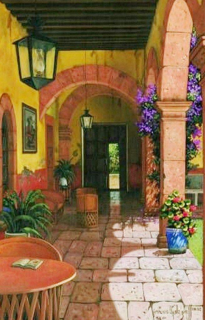 Conozcamos este hogar mexicano y su dise o vibrante y - Iluminacion para cuadros ...