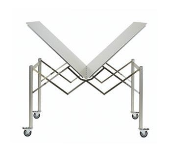 Thut Mobel Makes A Range Of Modern Collapsible Furniture Including An  Aluminum Table With Wheels That Folds With A Single Handle, A Wooden Shelf  That ...
