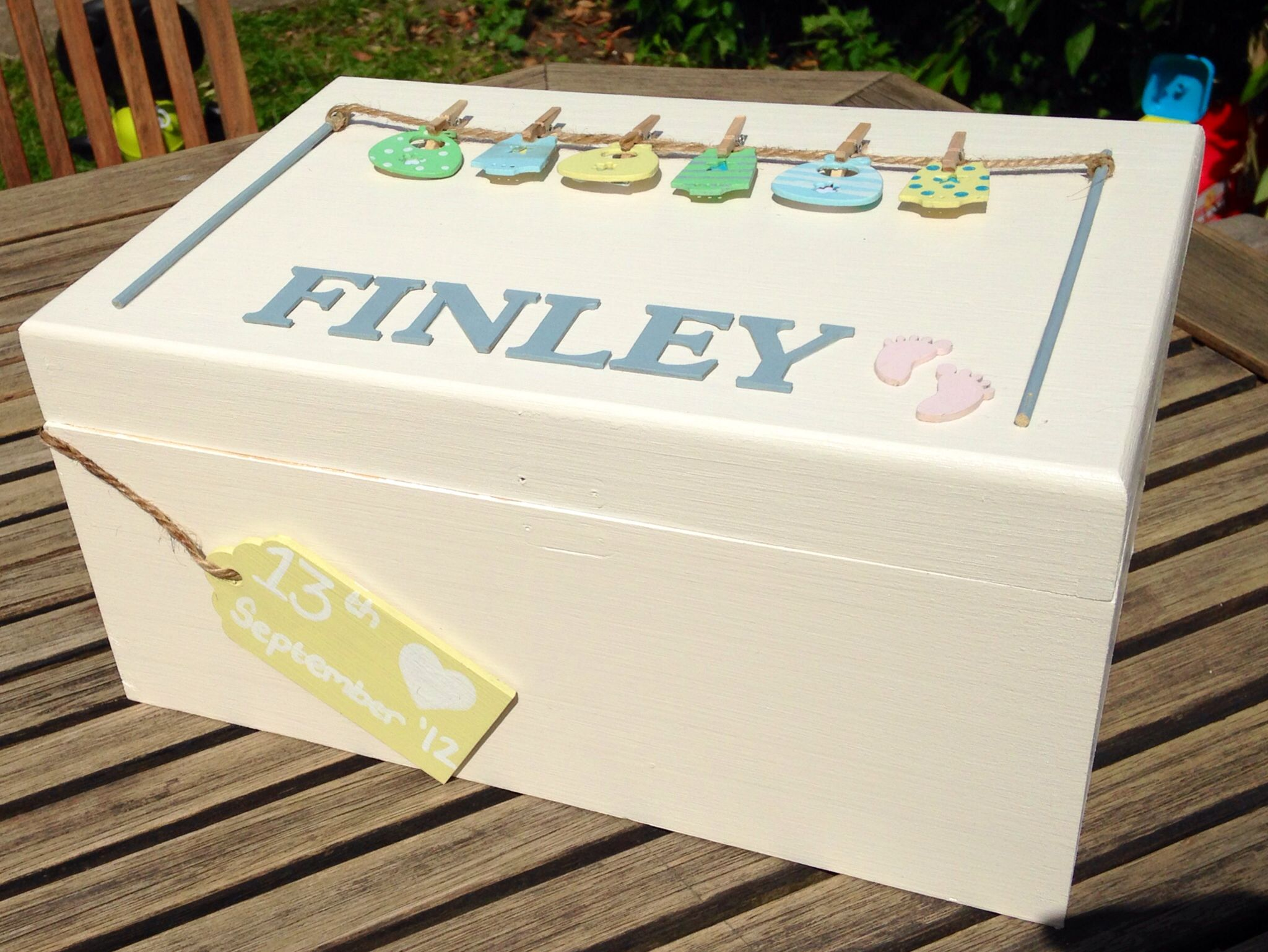 Memory Box Keepsake Box Baby Memory Box Handmade Box Memory Box