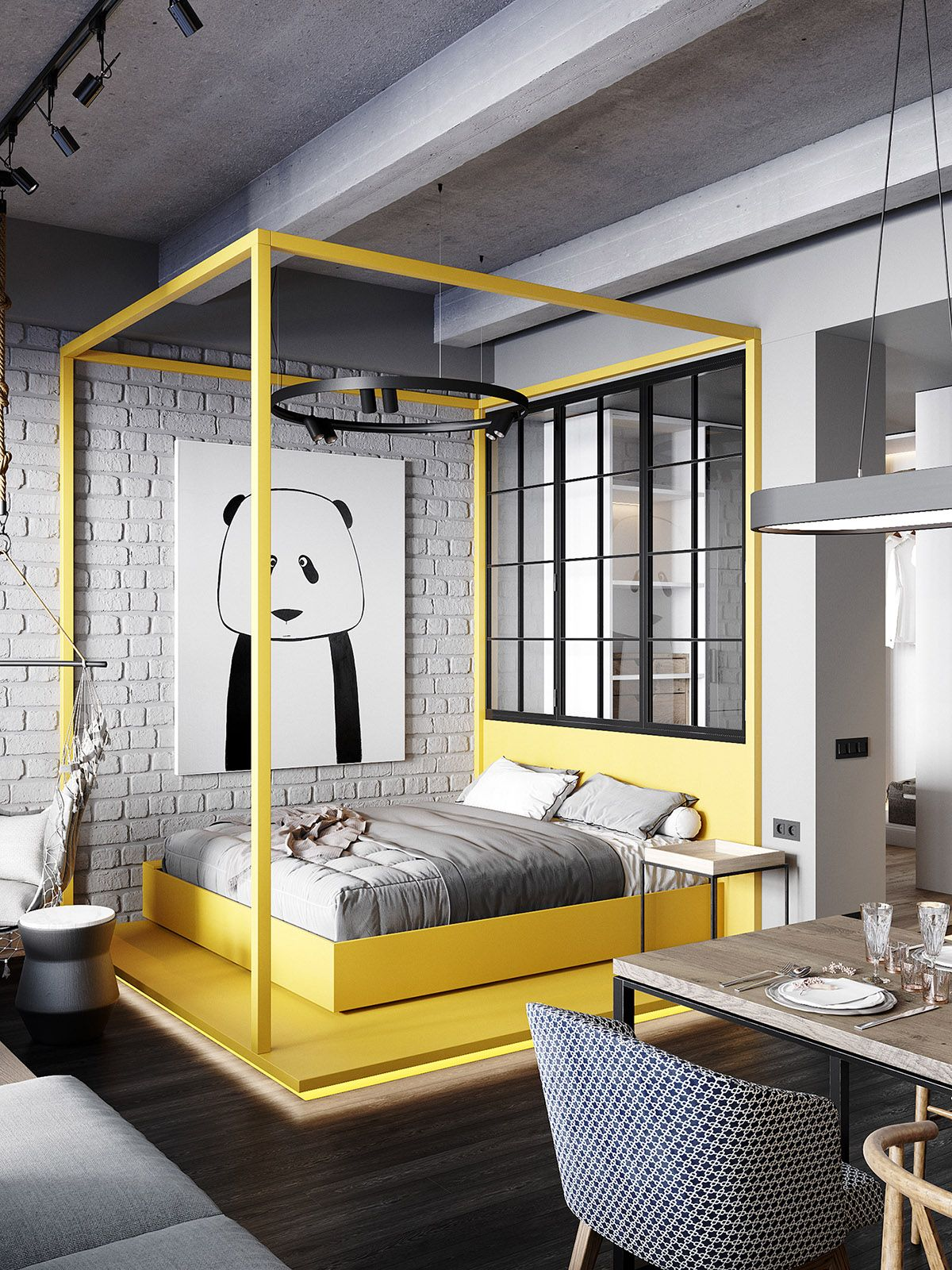 Stylish Streamlined One Room Living