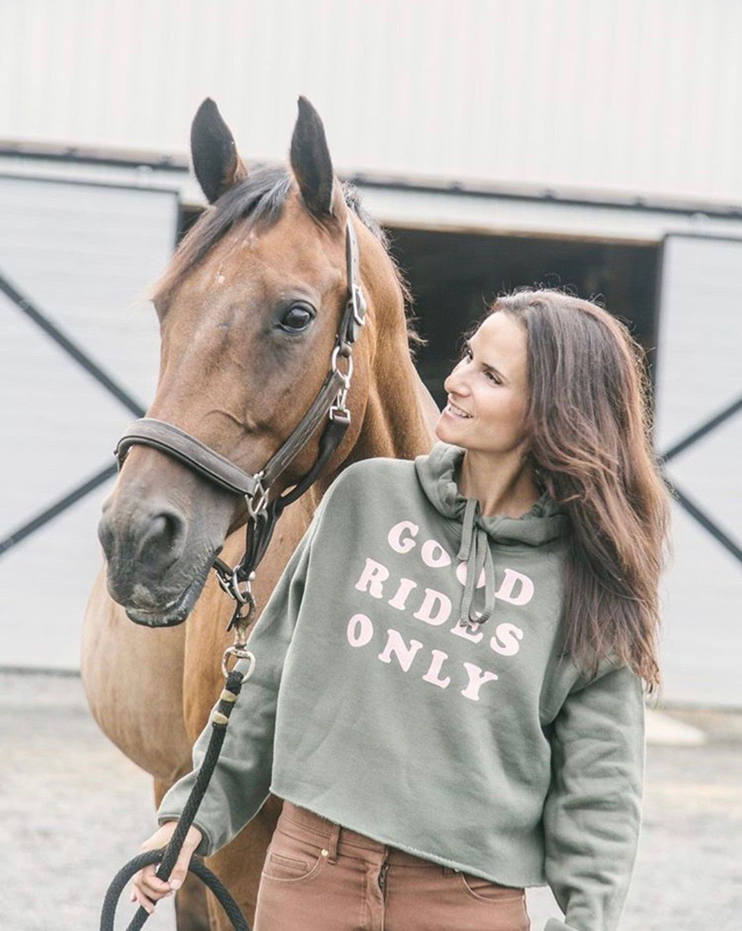 sweater animal pony stables equine 266 horses are a girl/'s best friend hoodie