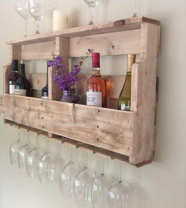 Botelleros con palets decoraci n de paredes pinterest - Botelleros de pared ...