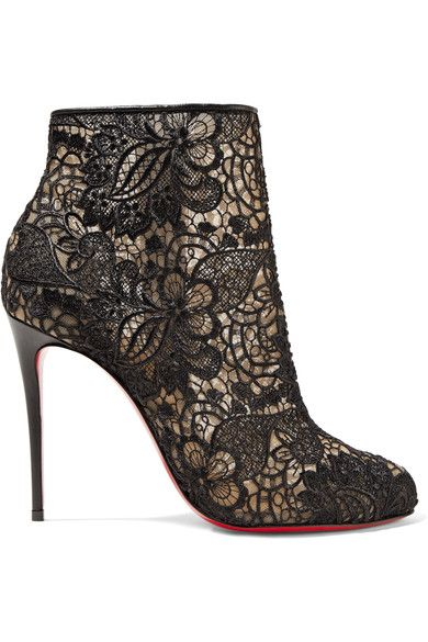 finest selection 60e3b 0cf03 CHRISTIAN LOUBOUTIN Miss Tennis 100 Guipure Lace Ankle Boots ...