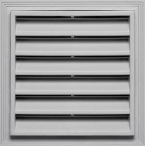 Mid America 12 X 12 Square Vinyl Gable Vent Each Gable Vents Builders Edge Fiberglass Screen