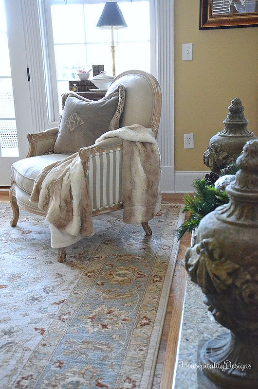 Winter Home Tour Helena Chair Pottery Barn Pillow