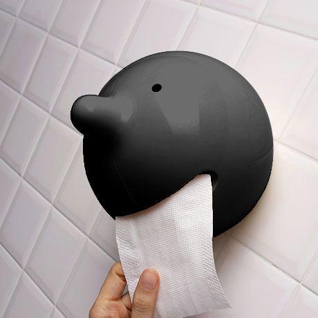 Wiper Toilet Roll Holder Black   Propaganda