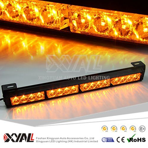 12 Leds Emergency Wanring Amber Strobe Flash Led Solar Car Roof Top Light Bars