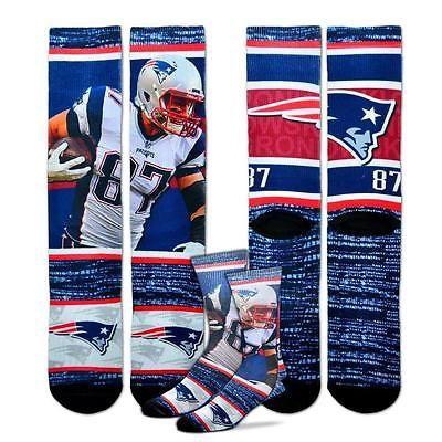 Large 10-13 New England Patriots Julian Edelman Player Socks