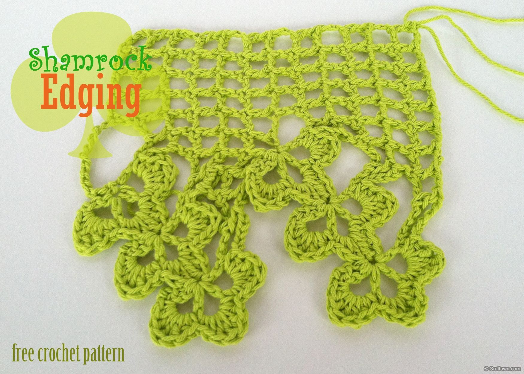 Free crochet pattern shamrock edging crochet patterns free crochet pattern shamrock edging bankloansurffo Image collections