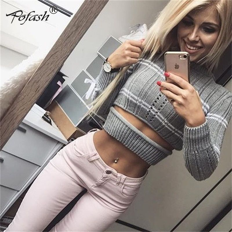 New Arrival 2018 Autumn Winter Knitted T Shirt Sweater New Women Pullover  Coat Sexy Lace Up Long Sleeve Sweaters Jumpers Crop Top Price  1092.0    FREE ... 8532e416d