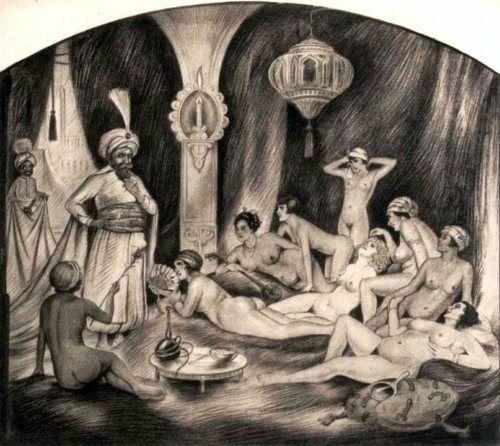 Harem Scene Eugene Reunier (1884 – 1960, German)