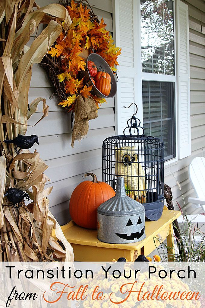 Transitioning The Porch From Fall To Halloween Fall