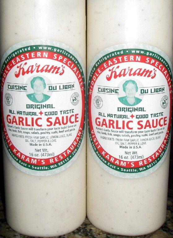 Karam's Garlic Sauce | Karam's Lebanese Cuisine | Seattle