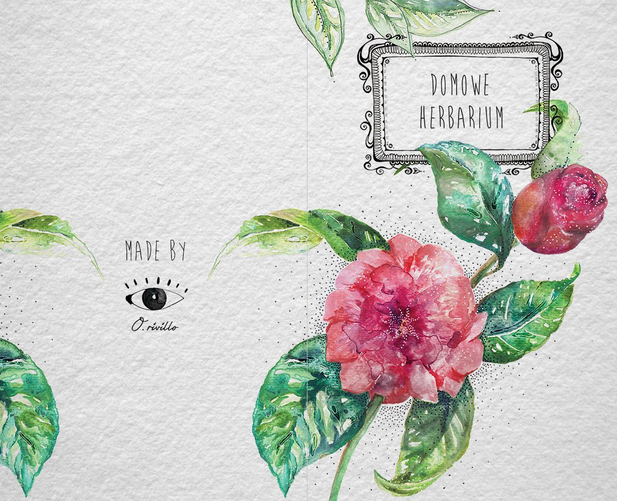 Watercolor book covers - Ewelina Rivillo My Home Herbarium Book Cover Book Coverswatercolors