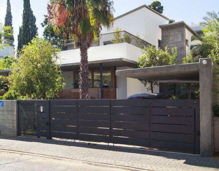 Haus Veranda Einfahrt Zaun Carport Beton Traumhauser Home