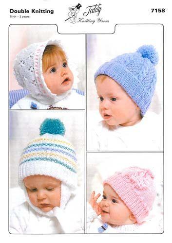 8e6d9b36ffb Simple Knit Baby Hat w  Pom Pom (Free Pattern) « Fabric Follies Two ...
