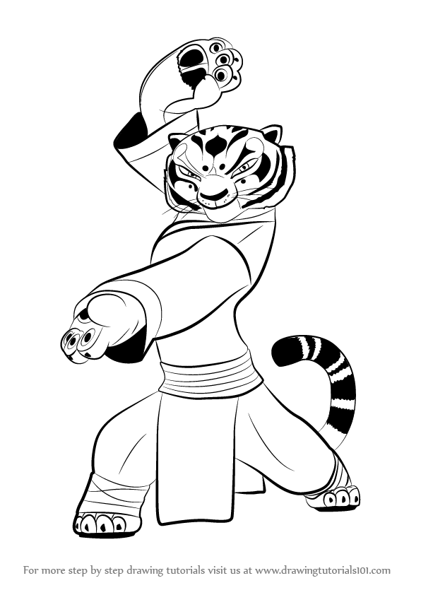Learn How to Draw Tigress from Kung Fu Panda 3 (Kung Fu Panda 3 ...