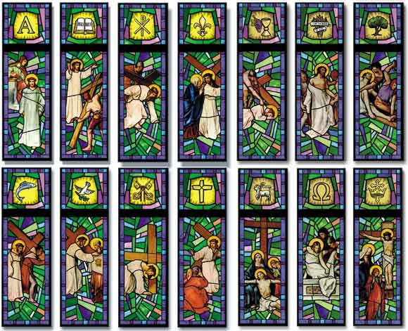 Go Back > Gallery For > Stations Of The Cross Stained Glass ...