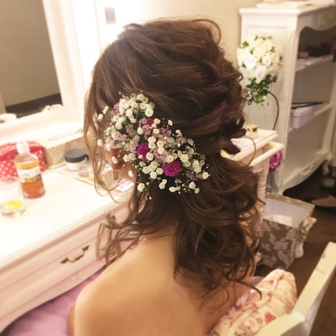 結婚式ダウンスタイル髪型 おしゃれまとめの人気アイデア Pinterest