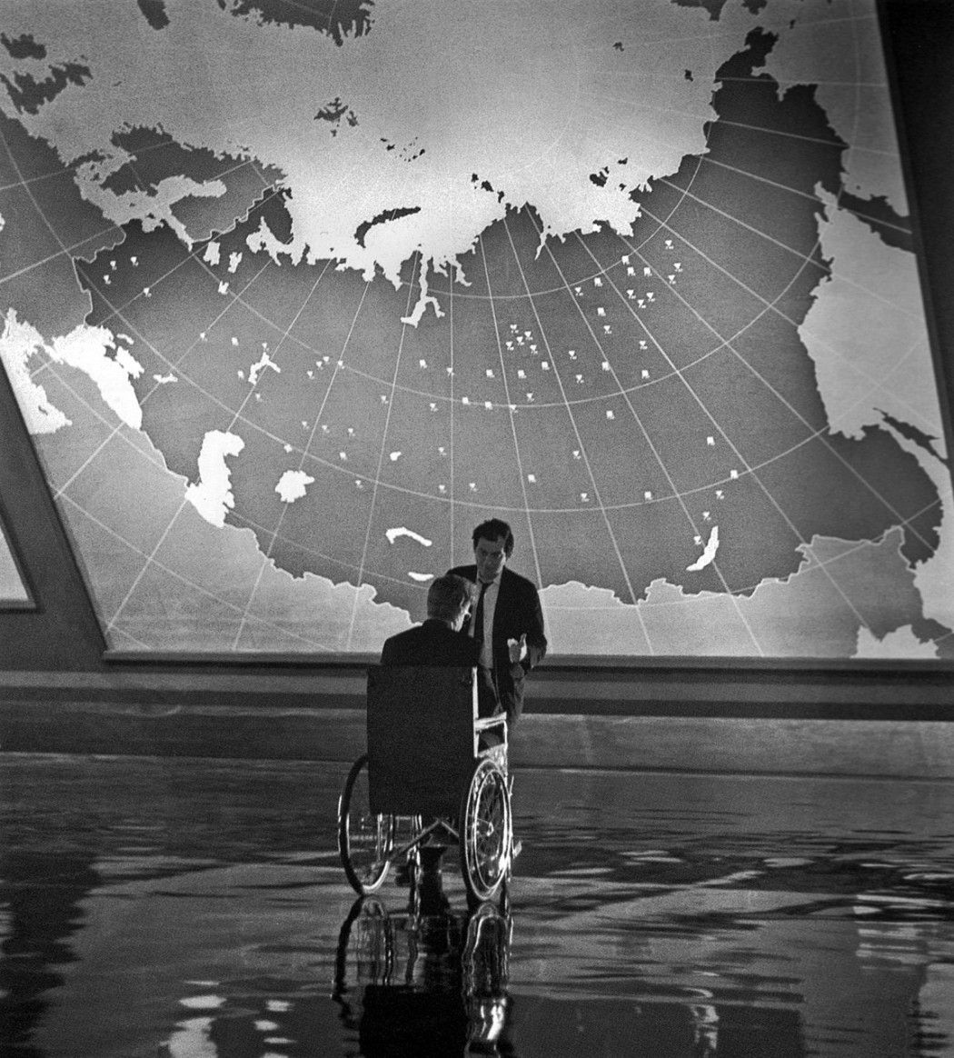 Peter Sellers As Dr. Strangelove Talks With Director