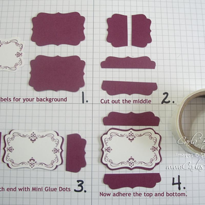 Carla\'s Scraps: Framing your XL Decorative Label Punch Tutorial ...