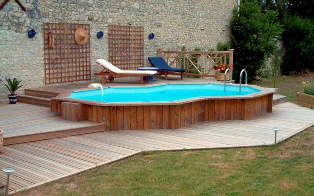 Gorgeous 25 Design Of Above Ground Swimming Pools With Wooden