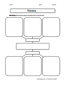 Great printable graphic organizers like this one on theme. The ...