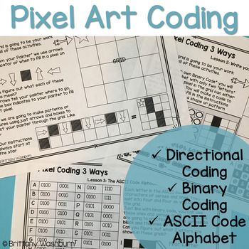 Pixel Art Coding - 3 unplugged computer science lessons Coding Pixel art lessons and activities. This resource brings art and math into computer science because each activity results in creating pixel art and patterns. Students will learn three different ways to program or code throughout the activities. Perfect for problem solving or STEM time in the classroom.
