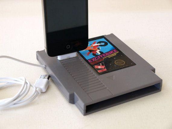 $24.95 Nintendo Cartridge iPhone Dock and iPod Dock - Excitebike