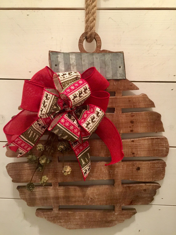 Rustic wood bell, Christmas wall decor, rustic Christmas