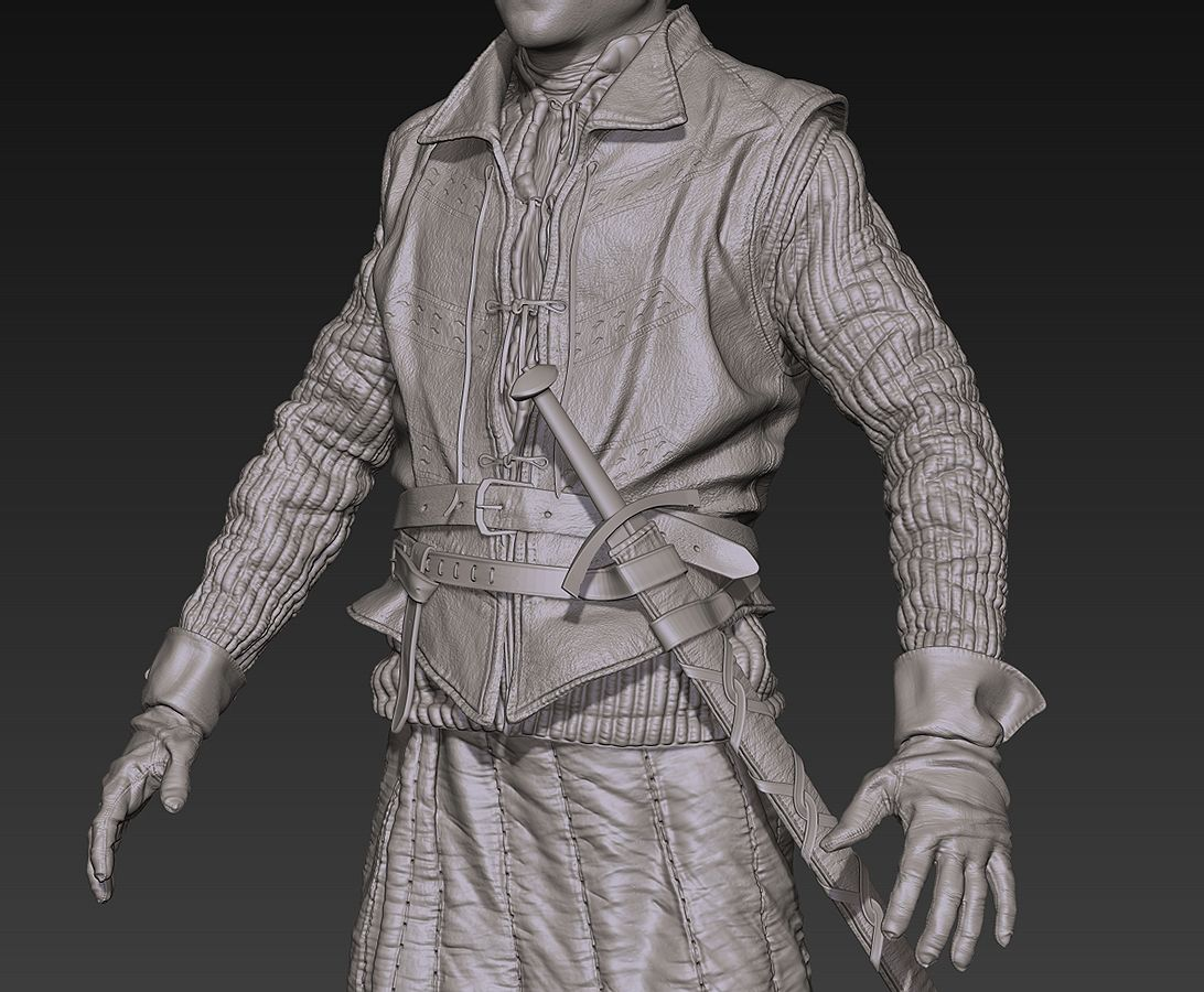 Character Design Tutorial In 3d Max : How to model ramsay bolton in d clothes folds