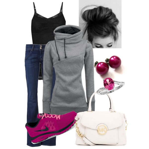 Sporty chic....love that hoodie, but pass on the purse...