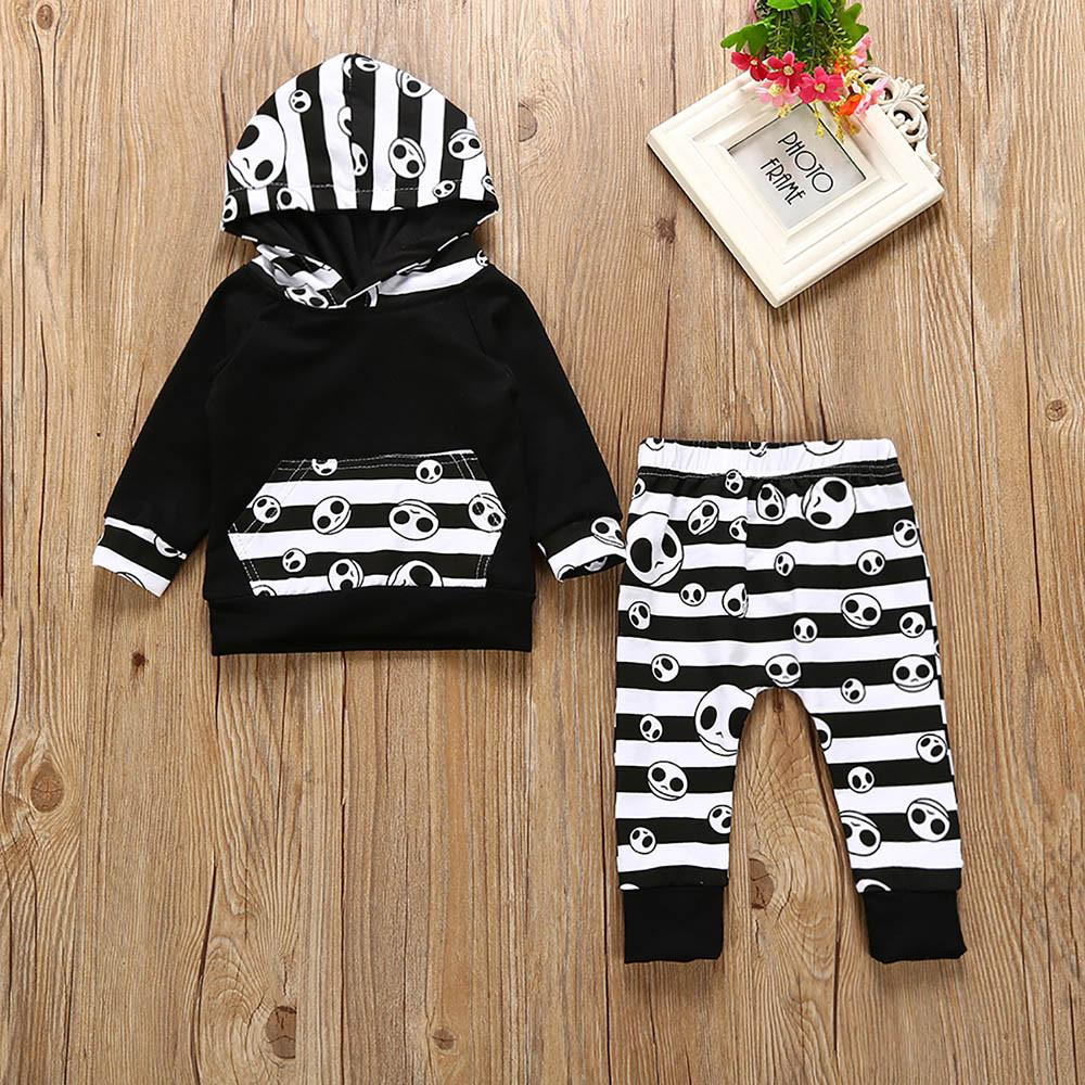 2PCS Toddler Kids Baby Boys Tops Hoodie T-shirt+Shorts Pants Outfits Clothes Set