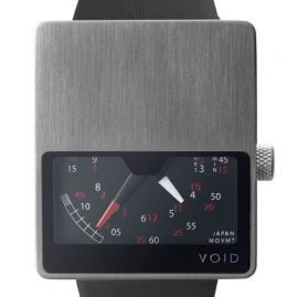 VOID V02 by David Ericsson - brushed stainless steel/black
