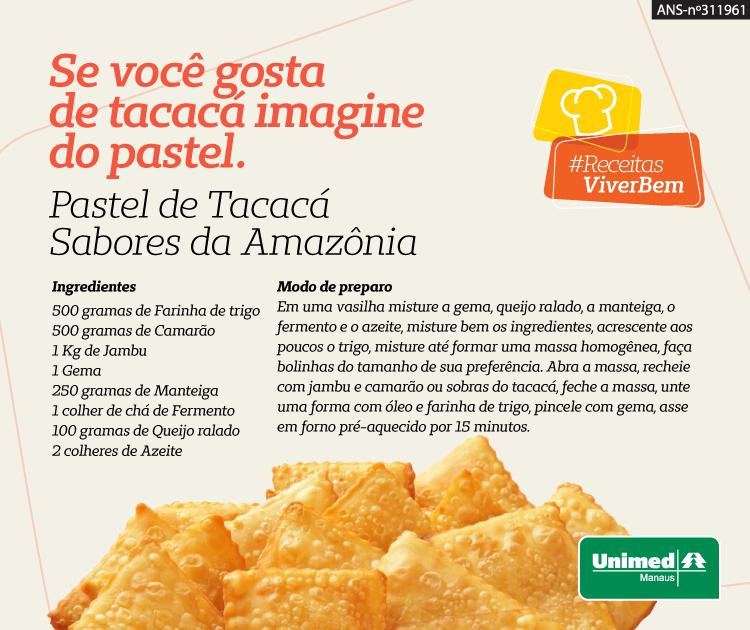 Tacacá é uma das delícias da nossa região. Esta versão coloca a iguaria em forma de salgado. Irresistível no sabor.  Alimentação saudável #esseéoplano #unimedmanaus