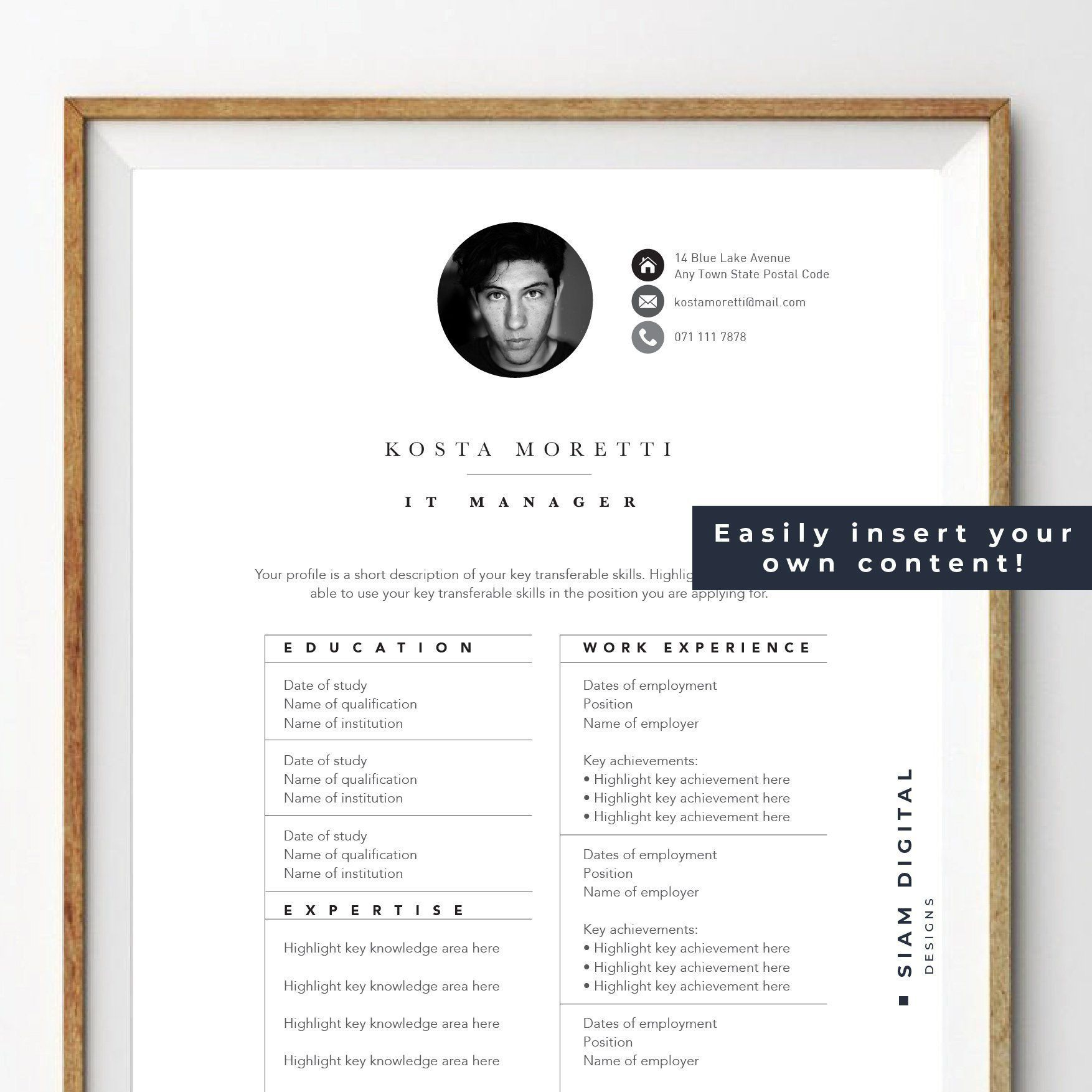 Resume And Cover Letter Template Pack Modern Design Professional Layout For Ms Word Instant Downl Cover Letter Template Letter Templates Resume Writing
