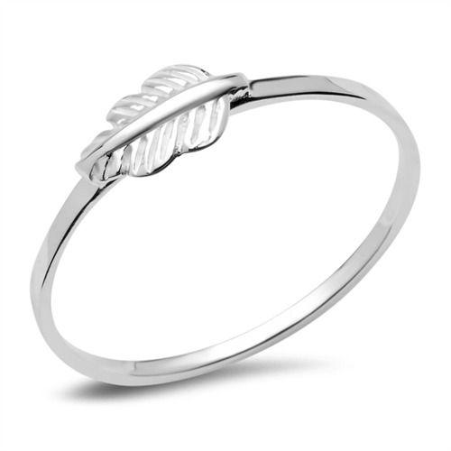Schmaler Ring Leaf 925er Silber Blatt SR0329 http://www.thejewellershop.com/ #ringe #leaf #silber #unique #thejeweller