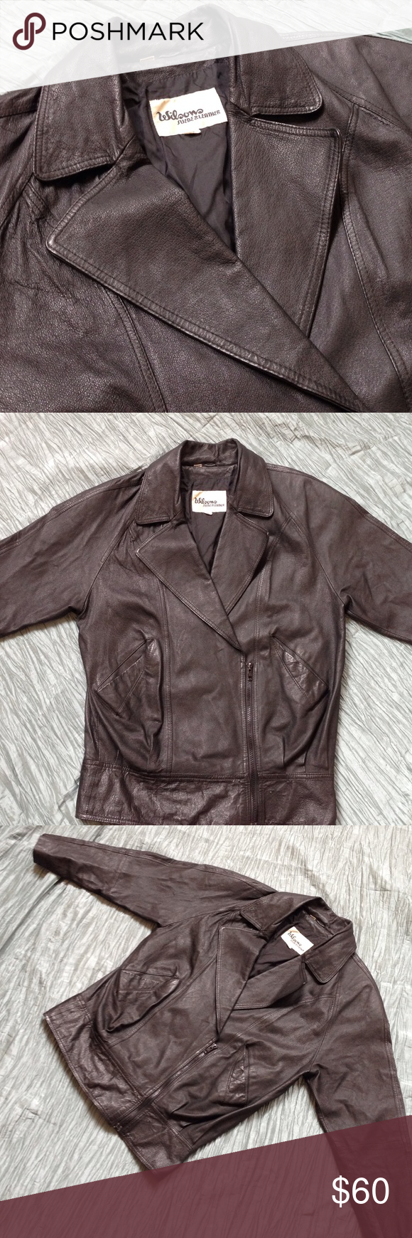 Wilsons Leather jacket 100 genuine leather. Inner lining