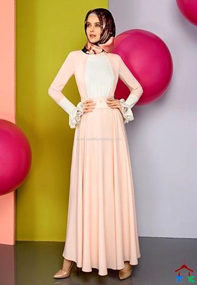 2015 Armine Baharlik Tesettur Elbise Yaz Armine Setrms Kayra Aker Alvina