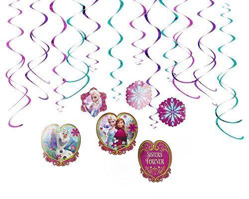 Disney Frozen Foil Swirl Birthday Party Decoration (12 Pack), Multi Color, . http://toyarefun.com/toys/disney-frozen-foil-swirl-birthday-party-decoration-12-pack-multi-color/