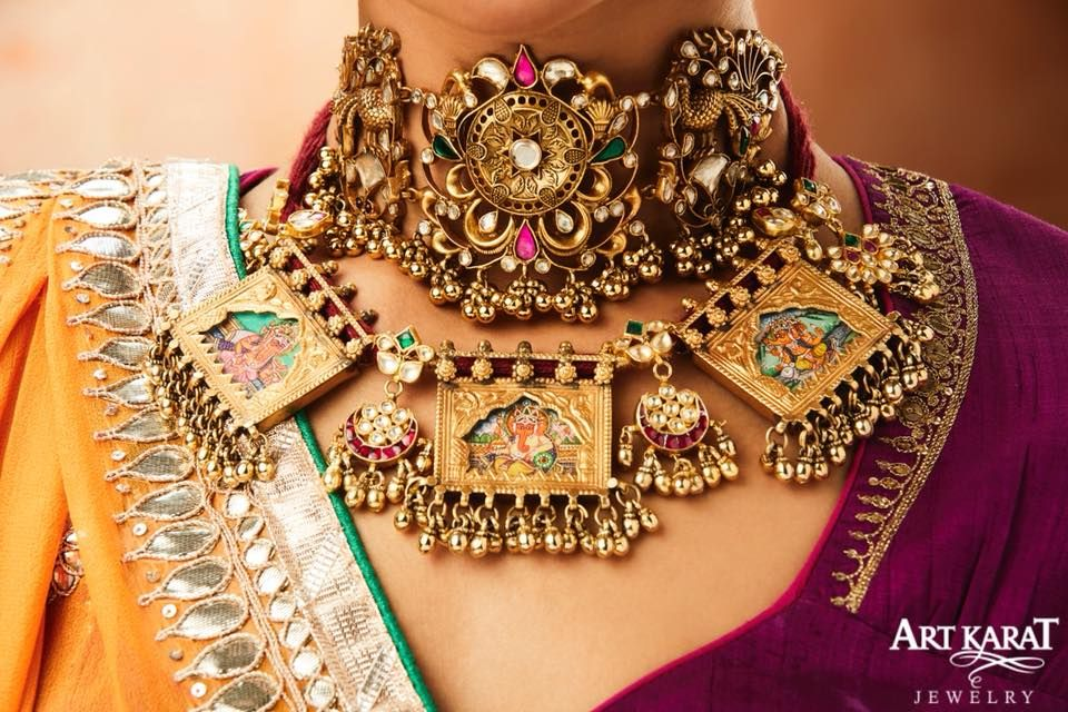 Engagement & Wedding Kundan Polki Meena Padmavat Amrapali Chokar Neckalec Bridal Party Jewelry Elegant And Sturdy Package