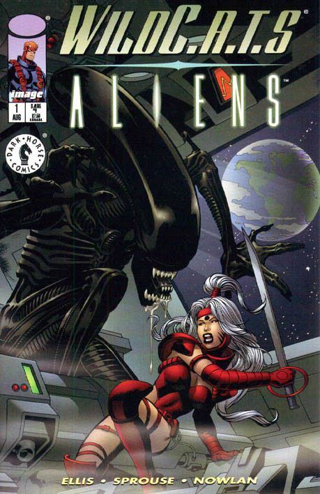 """WildC.A.T.s – Aliens"" (1998) Cover di Chris Sprouse #DarkHorseComics #Aliens"