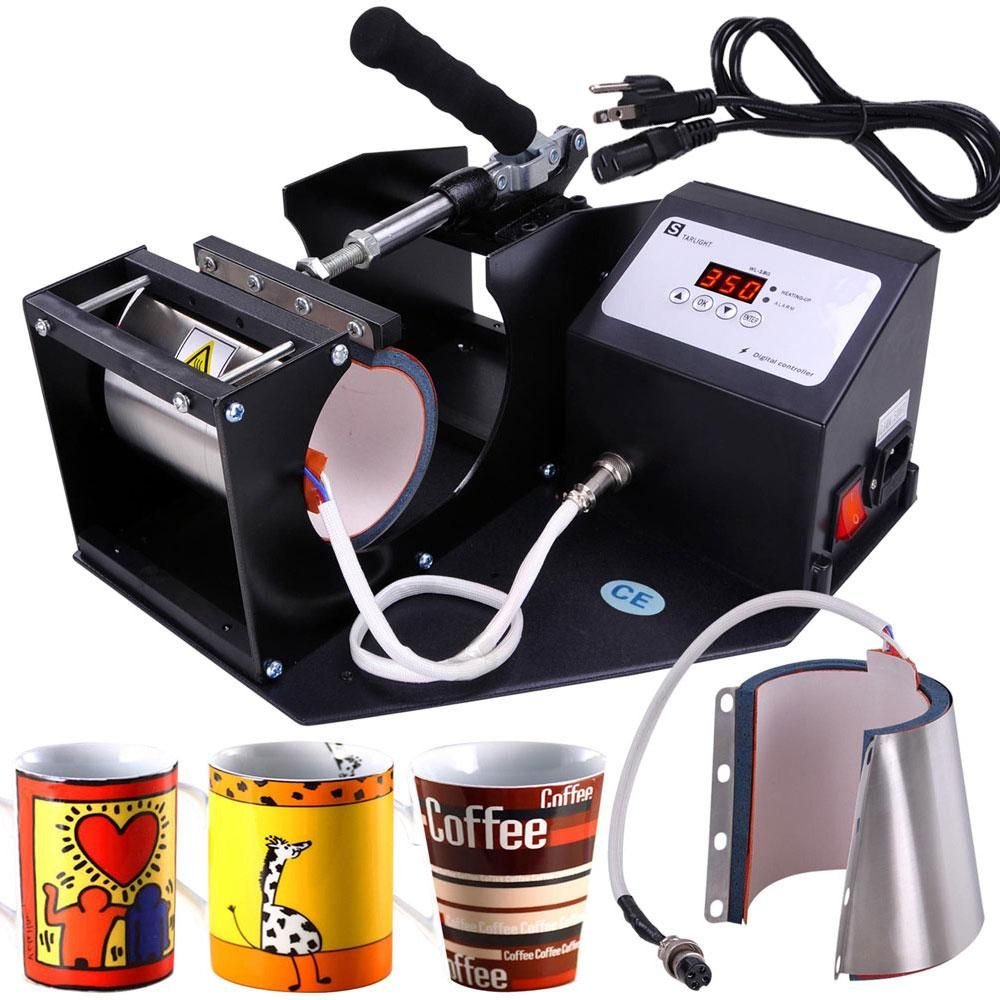 Printing Mug Cup Heat Press Sublimation Machine Black